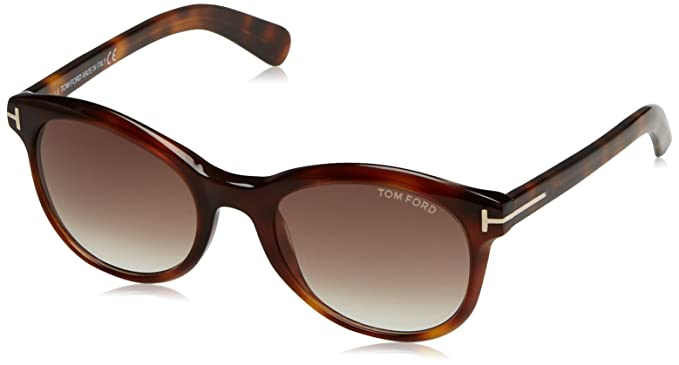 Tom Ford Lunettes de soleil FT0298 SUNGLASS PANT 140 AVANA SCURA FRAME WITH MARRONE GRAD LENS, 51