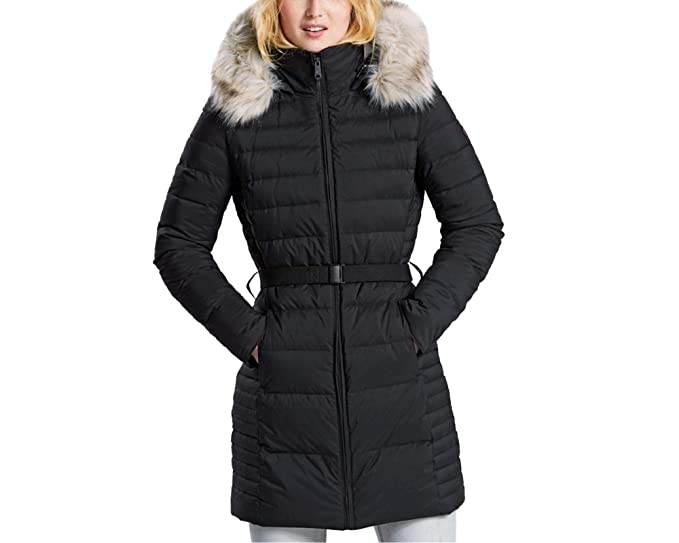 c3adfd787fcc Timberland Women s Quilted Hooded Long Jacket  Amazon.co.uk  Clothing