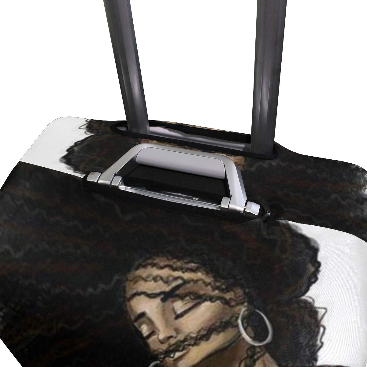 Travel Luggage Cover DIY Prints Protector Suitcase Baggage Fit 18-32 inch - Love Black Hair Art by banks jacqueline shop (Image #4)