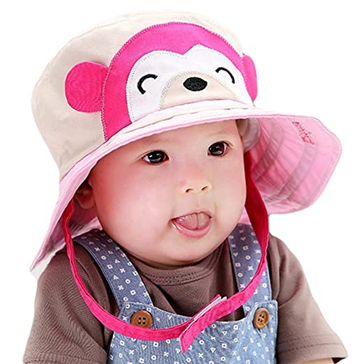 c15b906ea8f Taiycyxgan Unisex Baby Toddler Sun Hat Monkey Cotton Wide Brim Cap Bucket  Hat (6m-