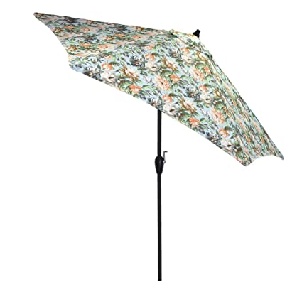 Amazon Plantation Patterns 60 Ft Aluminum Market Tilt Patio Mesmerizing Patterned Patio Umbrellas