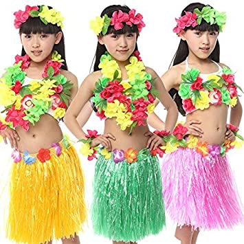 d79a9aaa1d28 Buy Fancy steps Hawaiian Fancy Dress Dance Costumes Costumes Assorted (4 to  6 Years) Online at Low Prices in India - Amazon.in