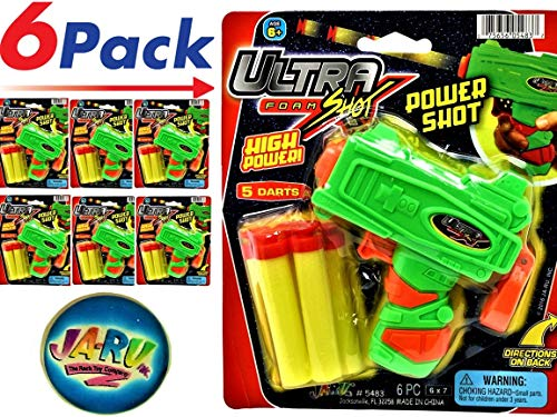 - JA-RU Ultra Foam Shot Gun (Pack of 6) and 1 Bouncy Ball Bundle Super Powerful Shotgun | Item #5483-6p