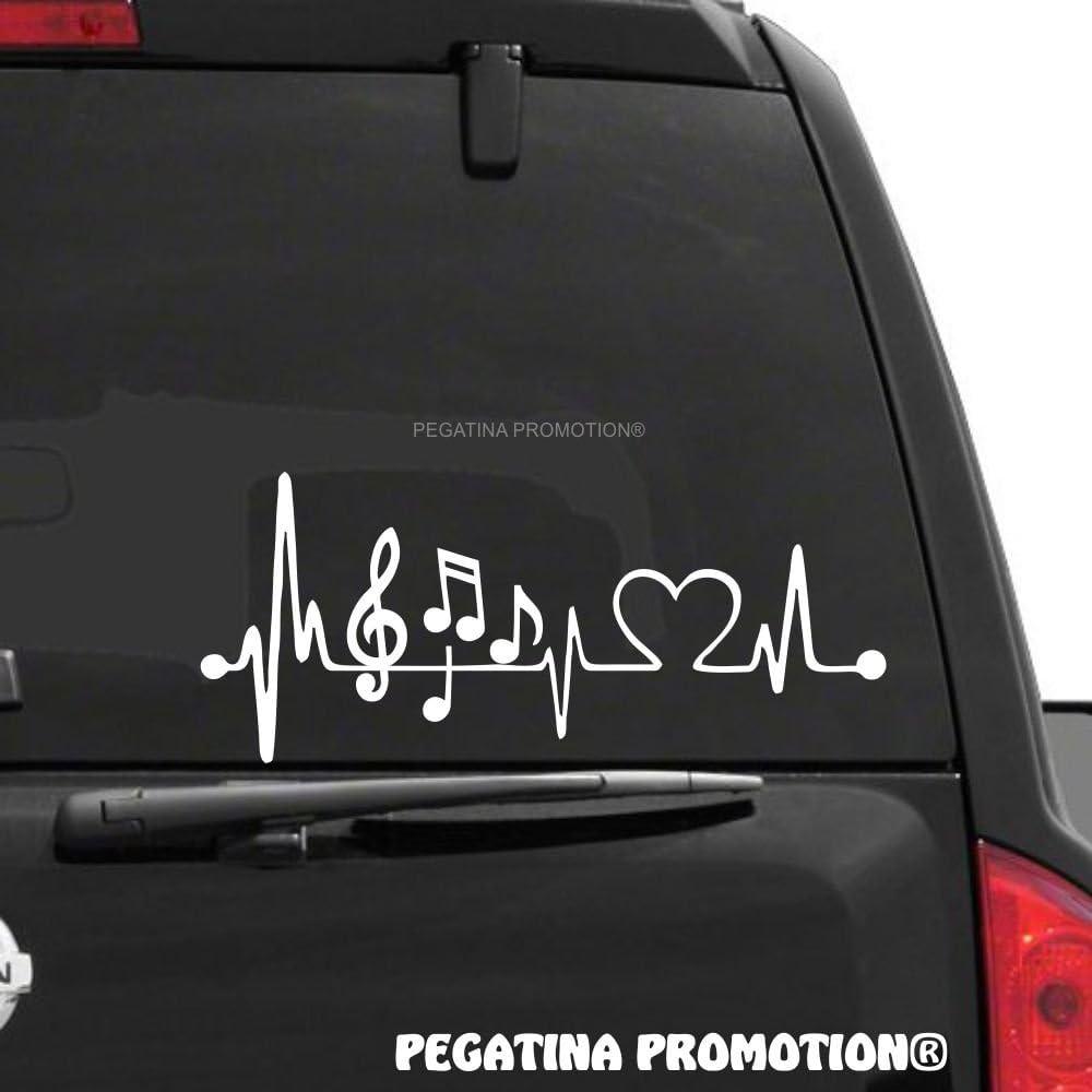Musik Singen Music Noten Herzschlag Aufkleber 30 Cm Herzlinie Hobby Sticker Auto Lack Scheibe Autoaufkleber Von Pegatina Promotion Auto