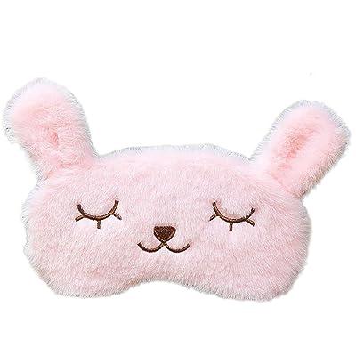 """BIGBOBA 1pcs máscara de ojo dormir máscara de ojo de máscaras para mujer Kids Cute Rosa Conejo de refrigeración calefacción 8 """"* 4"""": Hogar"""