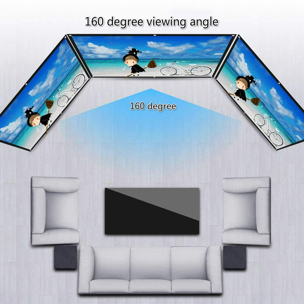 100 inch Projector Screen16:9 Foldable Portable Screen Lightweight Folding Wrinkle Free HD Projection Screen Projector Accessories for Indoor Outdoor Home Theater/& Video/&Film/&Party/&Game