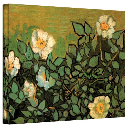 Art Wall Wild Roses by Vincent Van Gogh Gallery Wrapped Canvas Art