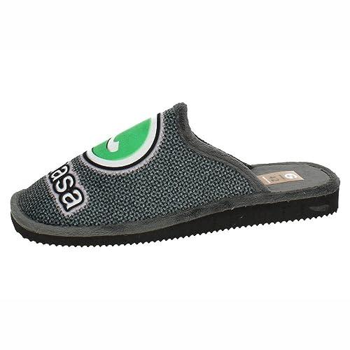 GEMA GARCIA 2024-3 Chinelas GUASA Suave Hombre Zapatillas CASA Gris 44: Amazon.es: Zapatos y complementos