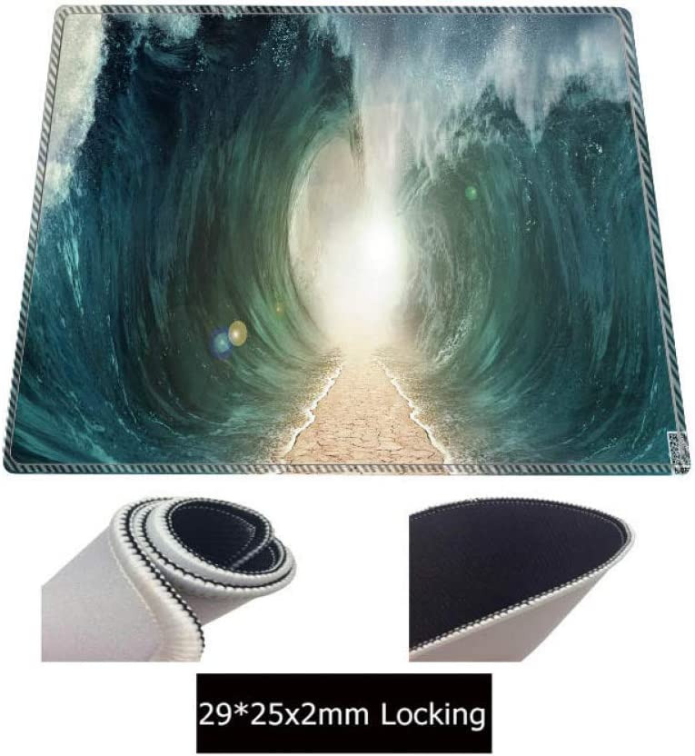 WHFDSBD Huge Wave Creation Large Custom DIY Mouse Pad Mice Gamer Keyboard Mat Xltable Soft Gaming Mousepad for