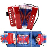 Andoer Kids Children 7-Key 2 Bass Mini Small Accordion Educational Musical Instrument Rhythm Band Toy