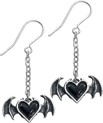 Alchemy Gothic Blacksoul Pewter Drop Earrings