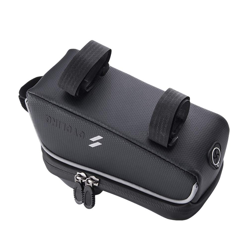 Cool Black MIERES Bike Bag Frame Water Resistant