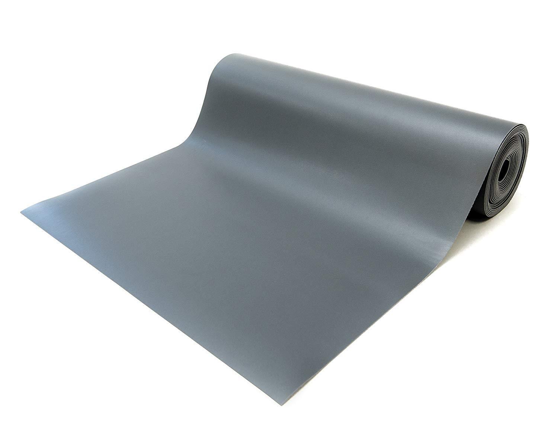 Bertech ESD Three Layer Vinyl Mat Roll, 3' Wide x 25' Long x 0.093'' Thick, Gray (Made in USA)