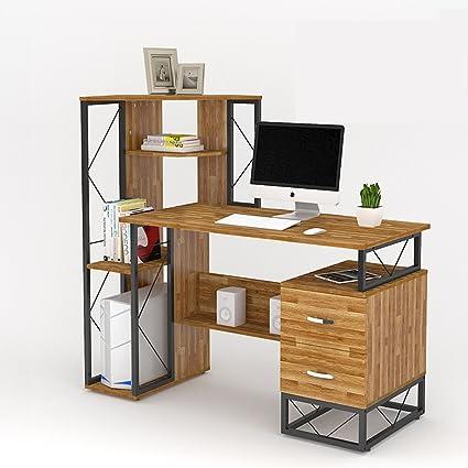 Tables ZR Simple Desk Bookshelf Combination Bedroom Computer Fashion Household Modern Office
