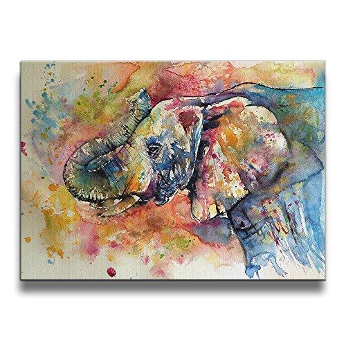 martoo de arte colorido elefante 16/50.8cm (un sin marco) arte decorativo abstracto pinturas al óleo sobre lona arte de la...