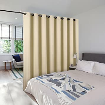 Room Divider Curtain Screen Partitions   NICETOWN Wide Width Grommet Top  Best Room Dividers Ideas For