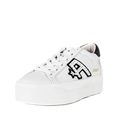 ced7c3086b33 Ash Blitz Platform Trainers White   Black Leather 41 White.  Amazon ...