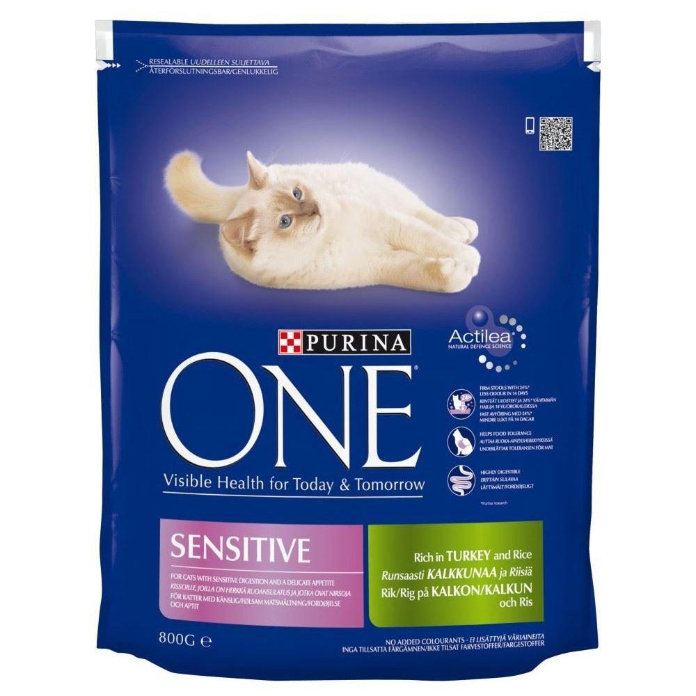 Purina One Sensitive Turkey & Rice (800g) Pack of 2
