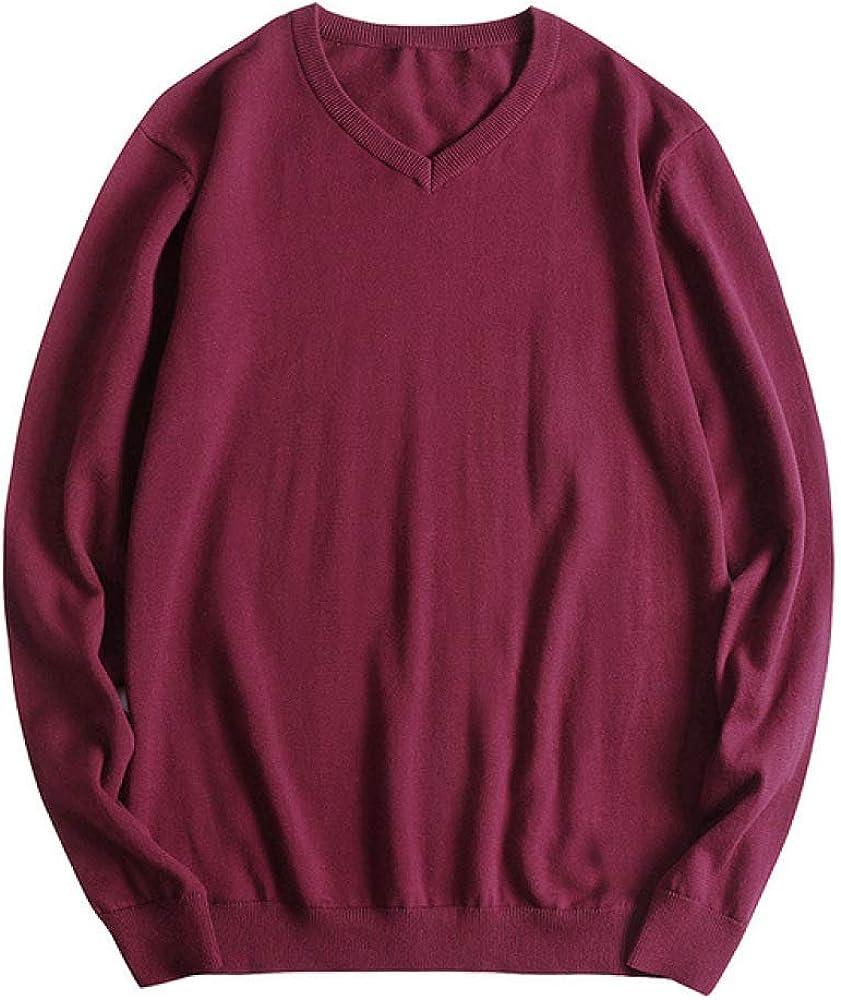 HOSD Fit 45-150 KG Body Sweater Hombres Moda 2019 Clásico Nuevo Cuello en V Jersey de Lana estándar Plus