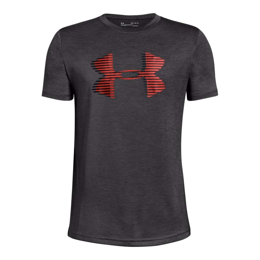 Under Armour Boys' UA Tech Big Logo Printed T-Shirt Youth X-Large Charcoal