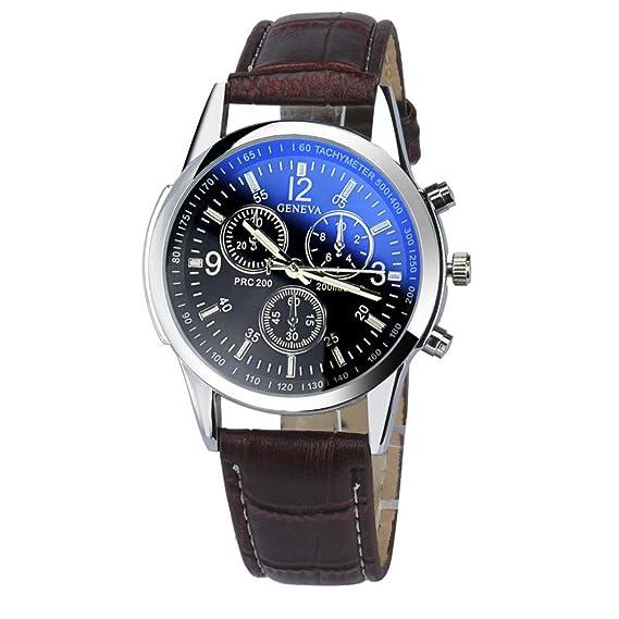 Relojes impermeables, Goodsatar Lujo Moda cuero de imitación Relojes de Hombre Reloj Analógico (A3