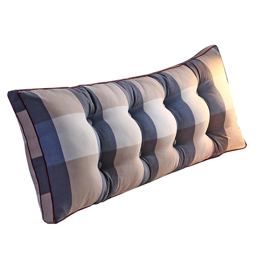 抱き枕 ウェッジトライアングルピローバックサポートクッションとしての本の枕レディングの枕の腰部のクッションの首のピローの背もたれのベッド(青い縞) (サイズ さいず : 180×20×50cm) 180×20×50cm  B07FM524FZ