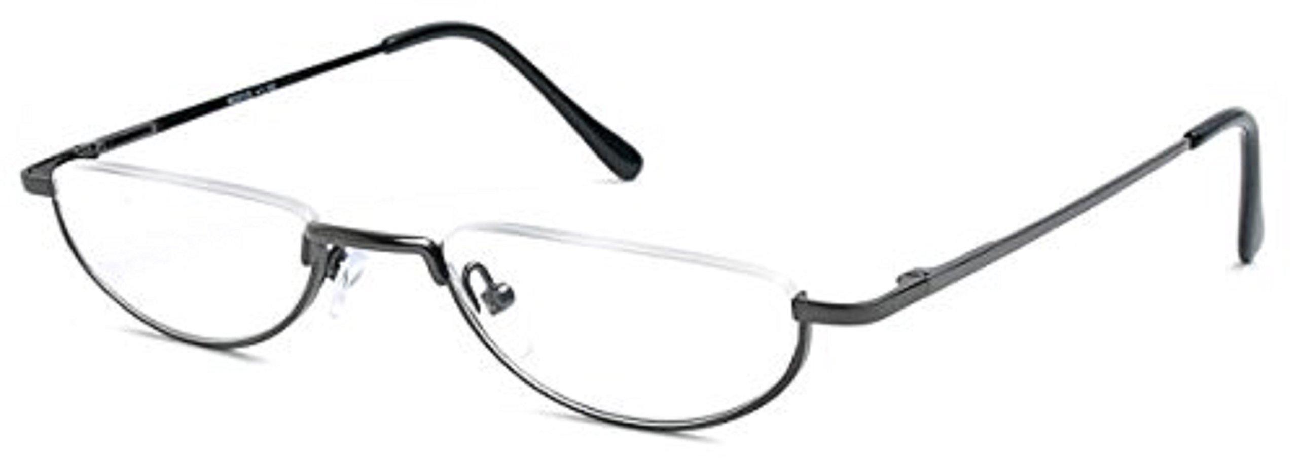 ddbf5e173c0 Amazon.com  The Lynwood Unisex Half Moon Half Frame Reading Glasses ...