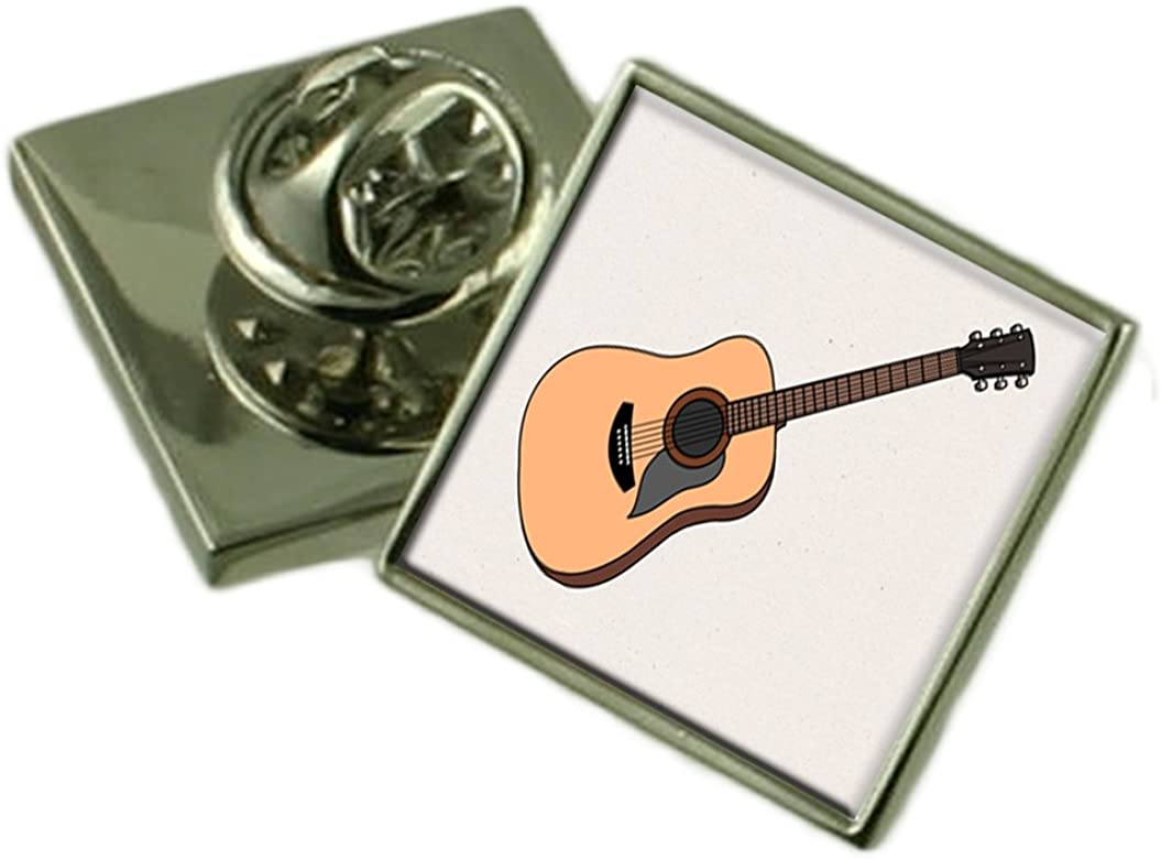 Select Gifts Guitarra acústica Sterling Silver Solapa Caja de Regalo: Amazon.es: Joyería