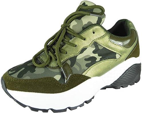 Loud Look - Zapatillas de Running de competición de Sintético Mujer, Color Verde, Talla 35.5: Amazon.es: Zapatos y complementos