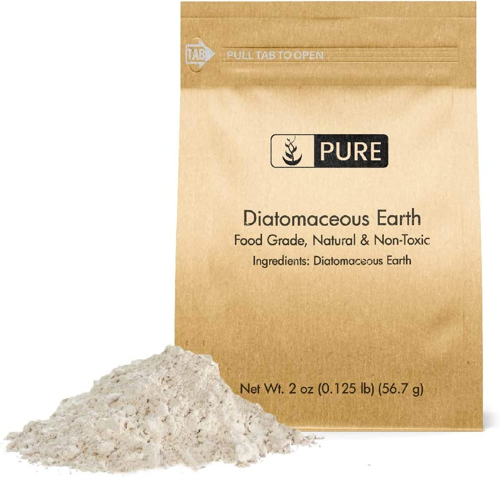 PURE Diatomaceous Earth (2 oz.), Food Safe, Hundreds of Uses for Health and Cleaning for You, Your Pets, and Your Home