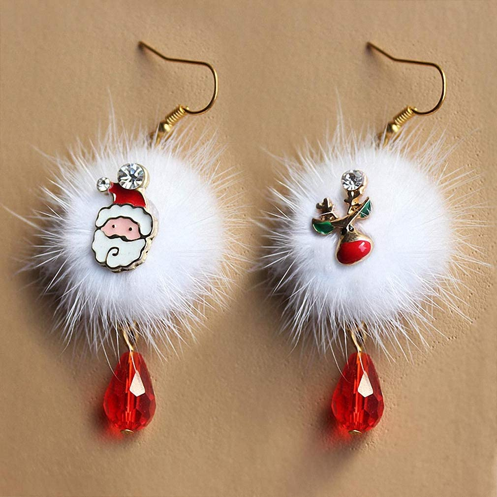 Santa Claus Festive Jewelry Christmas Gift for Her Christmas Jewelry Santa Head Stud Earrings Holiday Gift