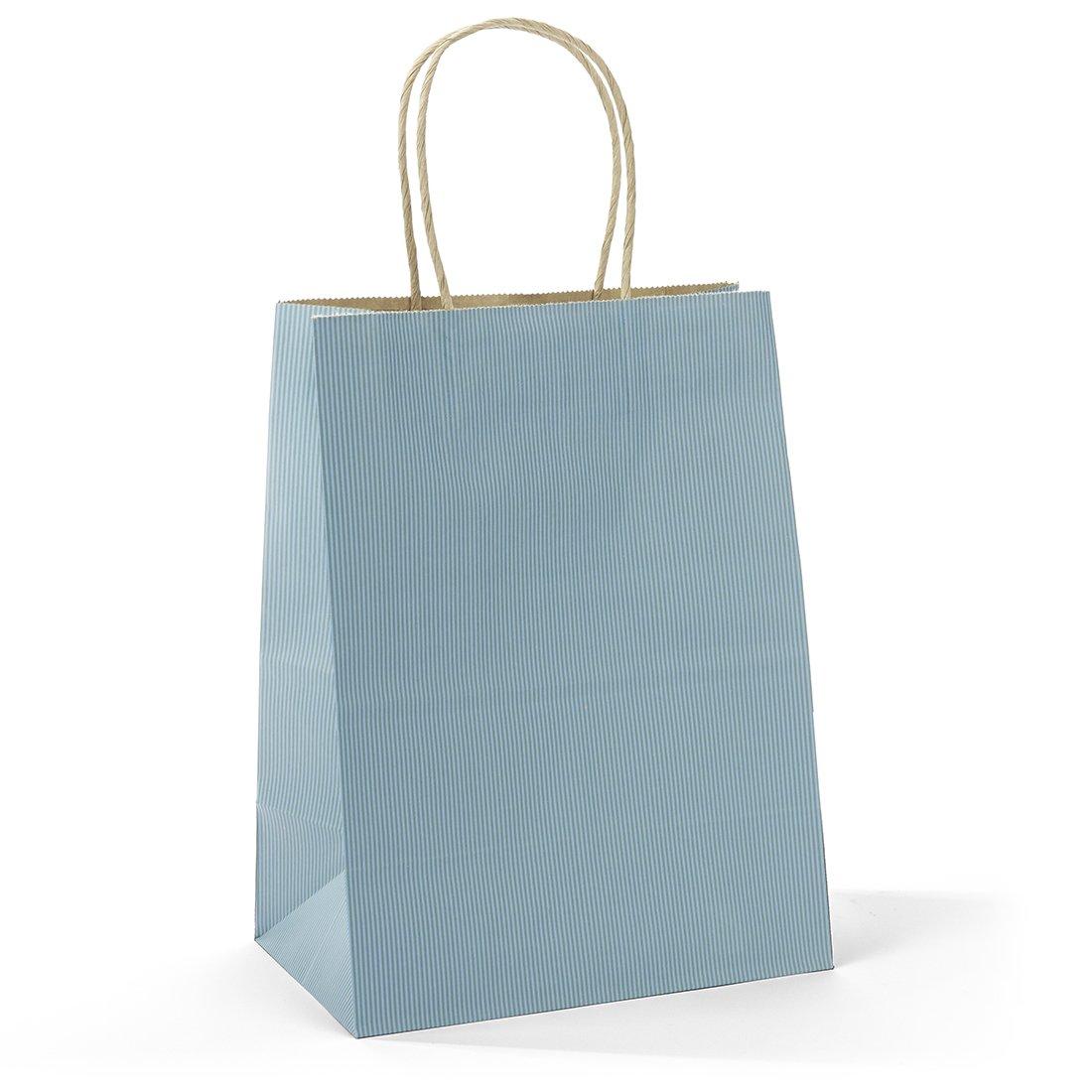 Halulu 50 Pcs 8x4.75x10.5 Kraft Paper Handle Shopping Gift Merchandise Carry Retail Bags (Wisteria)
