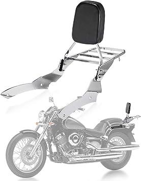 Psler Rückenlehne Sissy Bar Gepäckträger Beifahrer Rückenlehne Pad Für Yamaha V Star Drag Star 650 400 Custom Auto