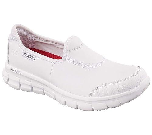 Skechers Sure Track, Color Blanco, Talla 39.5 EU: Amazon.es ...
