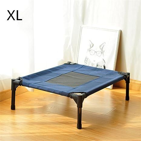 CHWWO Cama elevada para mascotas Montaje al aire libre Levanta la cama del perro Tubería de