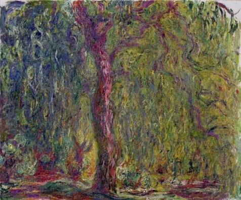 'Weeping Willow, 1918-1919 By Claude Monet' Oil Painting,