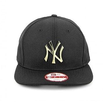 3d7d1e41 NY YANKEES New Era 9FIFTY Original Fit GOLD METAL Logo Snapback Hat Cap  With Tags