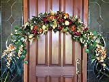 Floral Swag, Tuscan Window Floral Arch, Country Wedding Ceremony Arch, Tuscan Floral Design