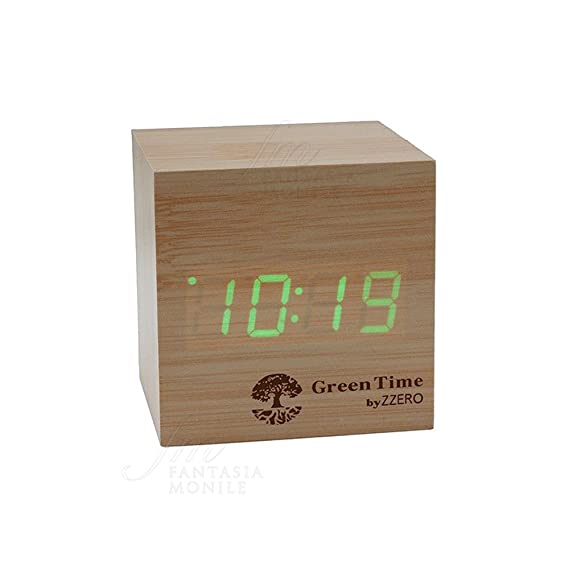 Despertador Green Time Reloj Mesa LED Clock Arce Wood style ...