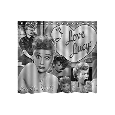 SolfTop Unique Design And I Love Lucy Shower Curtain Custom Printed Waterproof Fabric Polyester Bath
