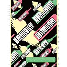 Flight of the Keytars Song Writing Journal: 12 Stave and Lined Paper Music Composition Notebook