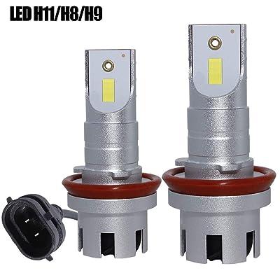 H11 LED Headlight Conversion Kit High/Low Beam H8,12000lm 6500K Car Headlamp Bulbs H9,Super Brightness CSP Chips-Mini: Automotive