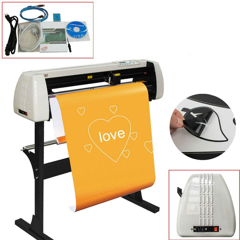 Pevor Vinyl Cutter 28 Inch Plotter Machine 720mm Paper Feed Vinyl Cutter Plotter Software Sign Making Machine with Stand by Pevor