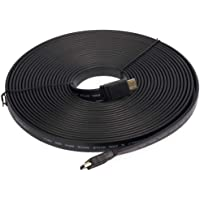 Flat Cable HDMI to HDMI 1080P 10 Meter, Black