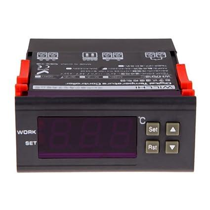 Termostato - TOOGOO(R)12V Digital Termostato Controlador de temperatura Termostato para Acuario Terrarios