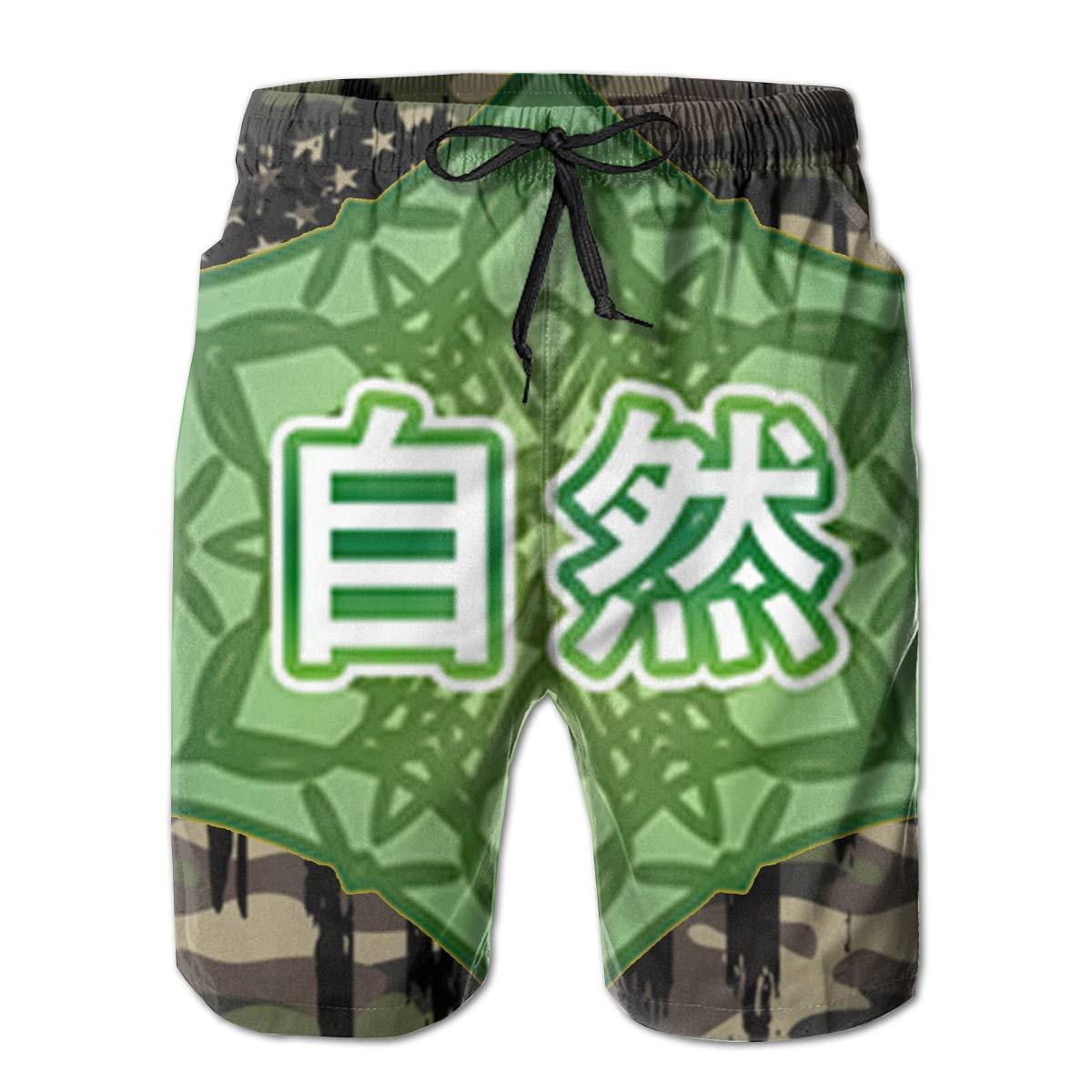 Japanese Nature Mens Swim Trunks Bathing Suit Beach Shorts
