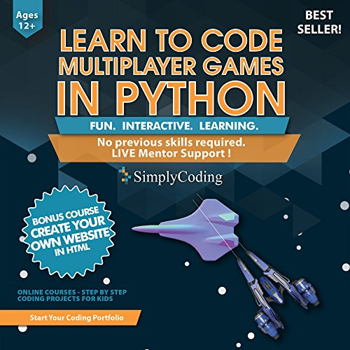 Software : Learn to Code PYTHON for Multiplayer Adventure Games (Ages 12+) – Programming and Video Game Design for Kids – Writing Software & Computer Coding - Better than Minecraft Mods - ( PC, Mac & Linux )