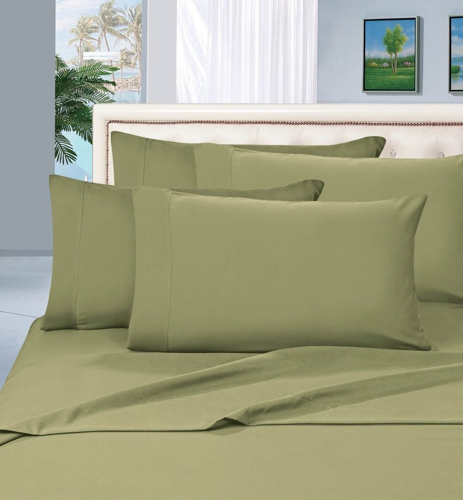 Amazon.com: Comfy Sheets 100% Egyptian Cotton   500 Thread Count 4 Piece  Sheet Set  Color Sage Green,Size Queen   Fits Upto 18u0027u0027 Deep Pocket: Home U0026  Kitchen