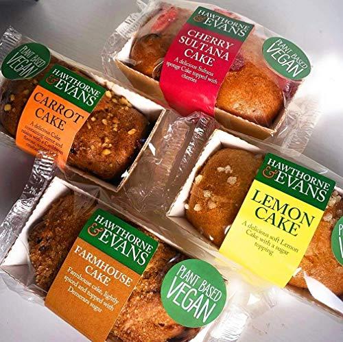 """*Cake Aanbied** 4 Verschillende Vegan Mini Cake Selectie """"Geweldig cadeau """"80gm Elke Cake Plant Op basis van Gratis levering"""