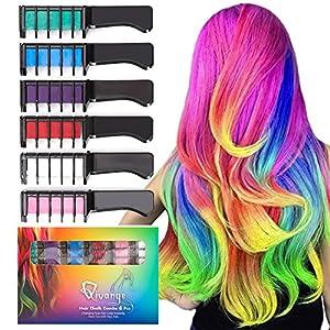 Qivange Hair Chalk Combs, 6 Pc...